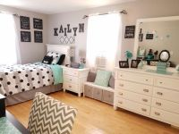 Grey and teal teen bedroom ideas for girls