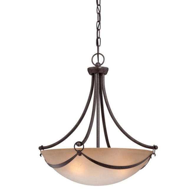 Allen Roth Winnsboro Bronze Wrought Iron Multi Light Marbleized Glass Bowl Pendant At Lowe S The Comfortable Style Of This Makes Your Home Feel