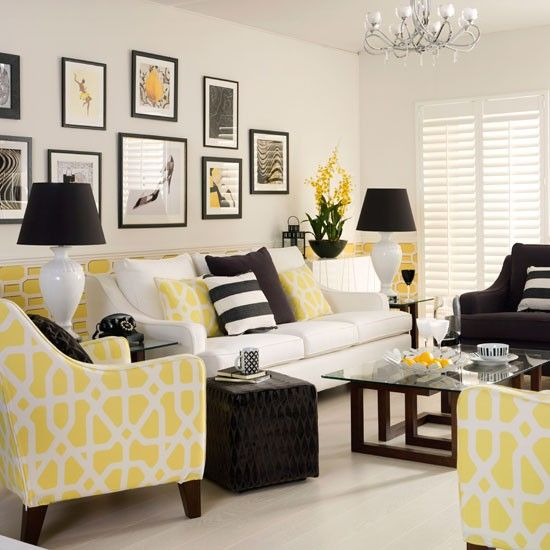 Miskien in groen yellow monochrome living room textiles make this scheme sing equal amounts of white and are teamed with black also home decor pinterest rh