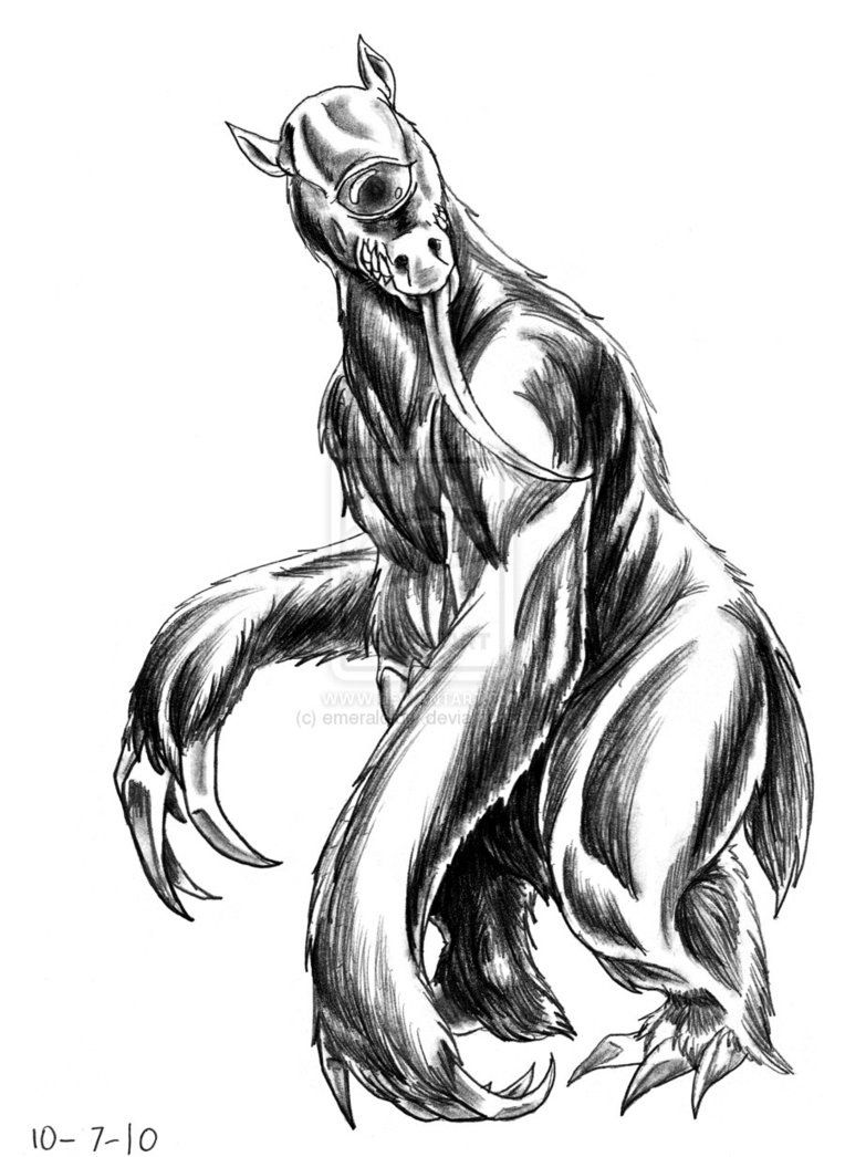Mapinguari- Brazilian folklore/cryptid: a hairy, roughly