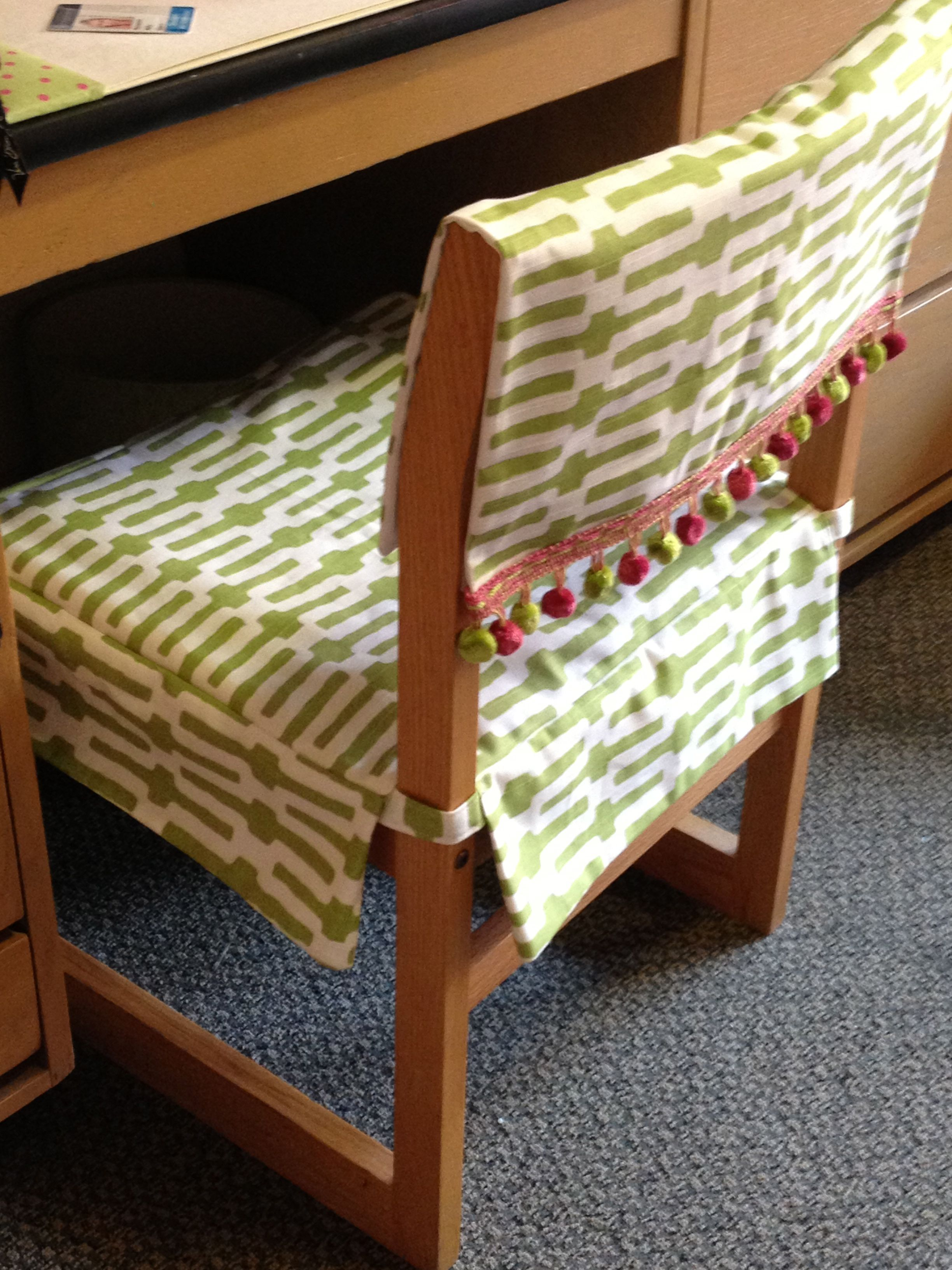 Dorm Chairs My Roommate 39s Mom Made Us These Awesome Desk Chair Covers