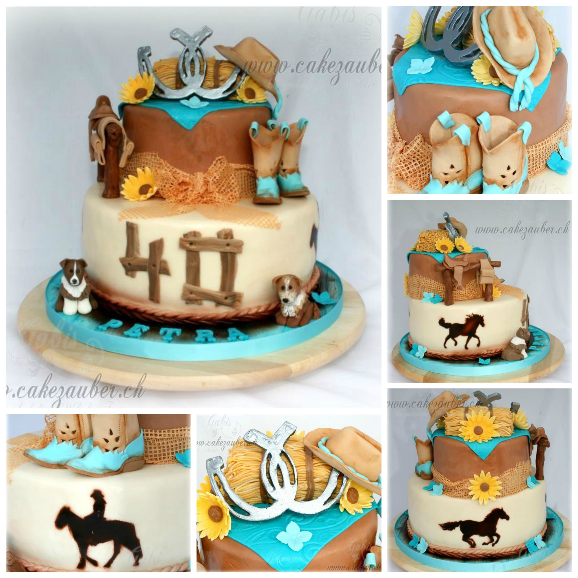 Womans Country Western Cake