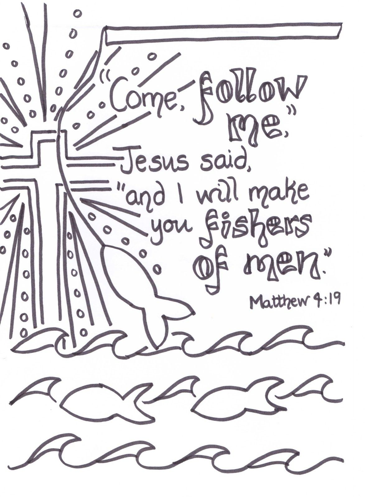 Flame: Creative Childrens Ministry: Fishers of men verse