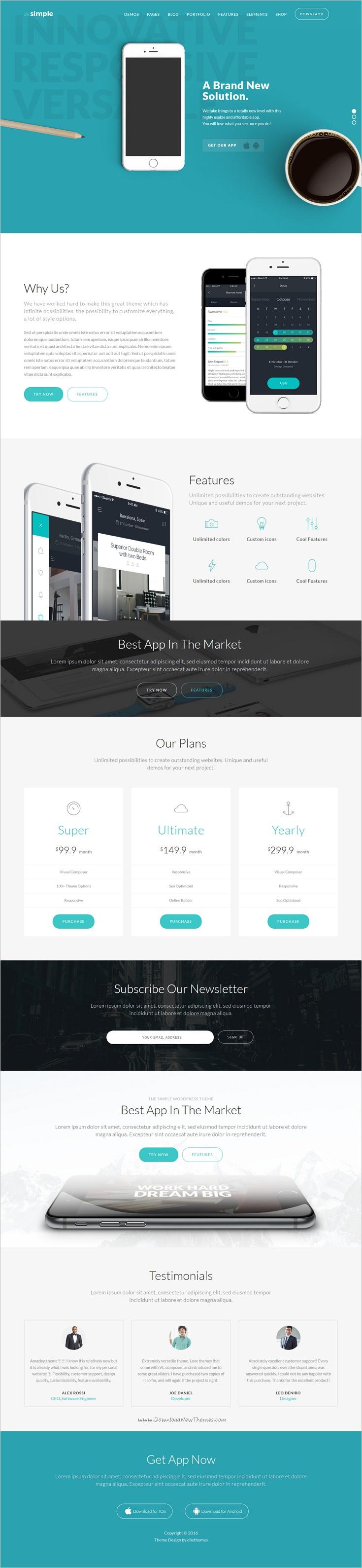 The simple responsive multi purpose business theme also wordpress rh za pinterest