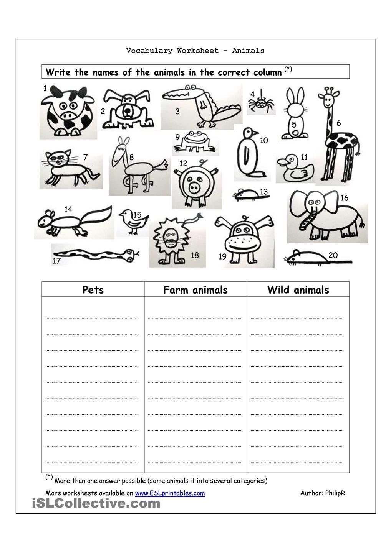 Animal Kingdom Worksheet Free Worksheets Library