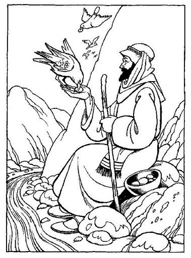 coloring sheet for Bible Story of David's father sent him
