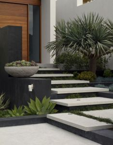 Nice front entry landscaping design branksome tim davies steps house pinterest contemporary landscape designs also rh au
