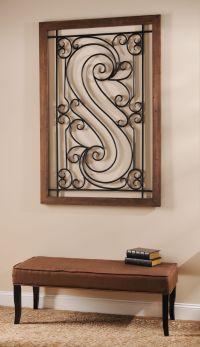 Elegant Metal Scroll Plaque | Wrought iron wall decor ...
