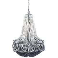 Ombre Black Clay Beaded Chandelier | Beaded chandelier ...