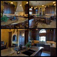 Rustic luxury; Tuscan kitchen - island idea - still bar ...