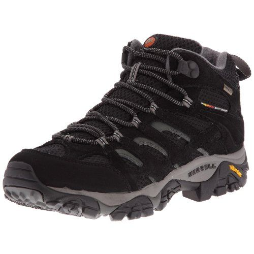 merrell moab mid gtx xcr botas de senderismo para hombre color negro talla