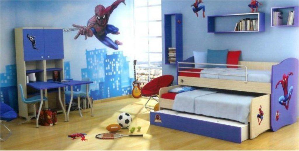 Spiderman-bedroom-ideas-for-boys-simple-kids-room-design