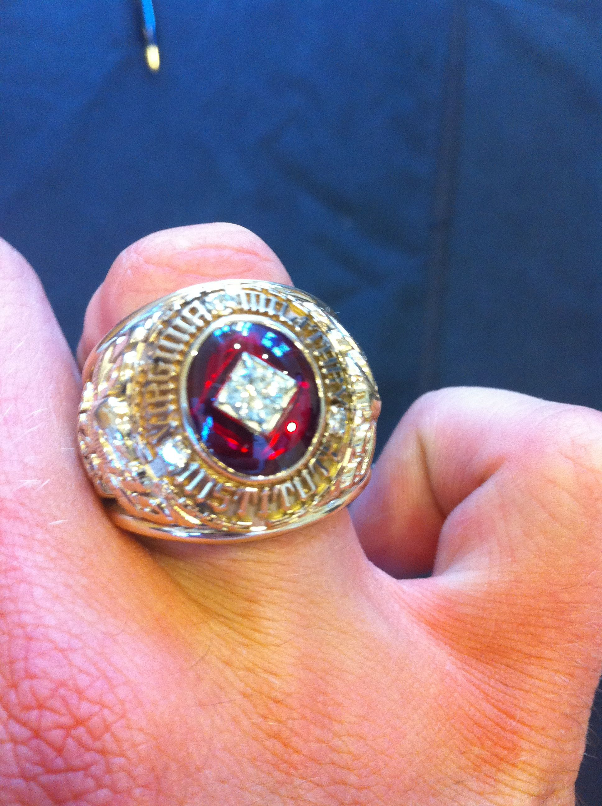 Vmi Class Of 2012 Ring  Among The Biggest (if Not The
