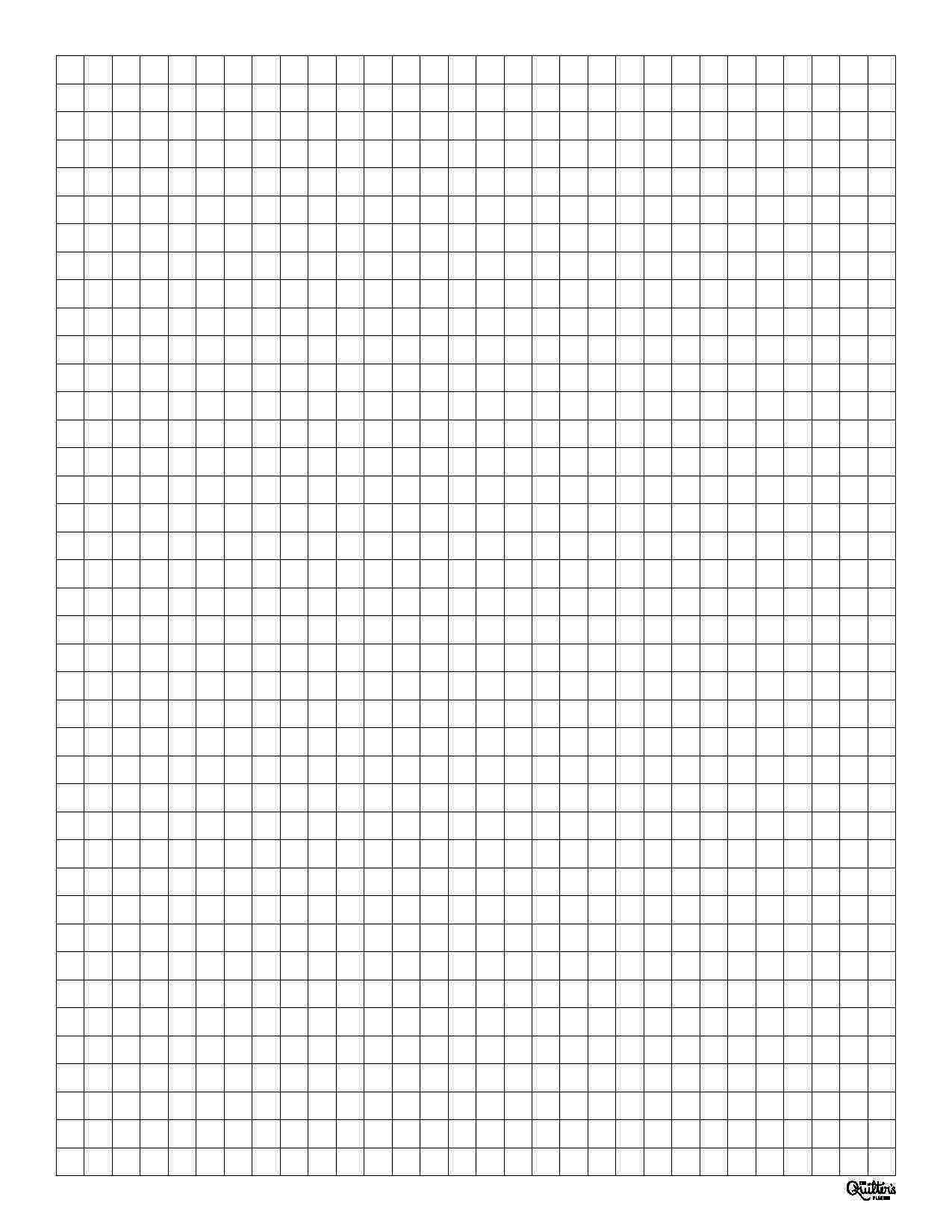 We all know that quilters love graph paper! Here are free