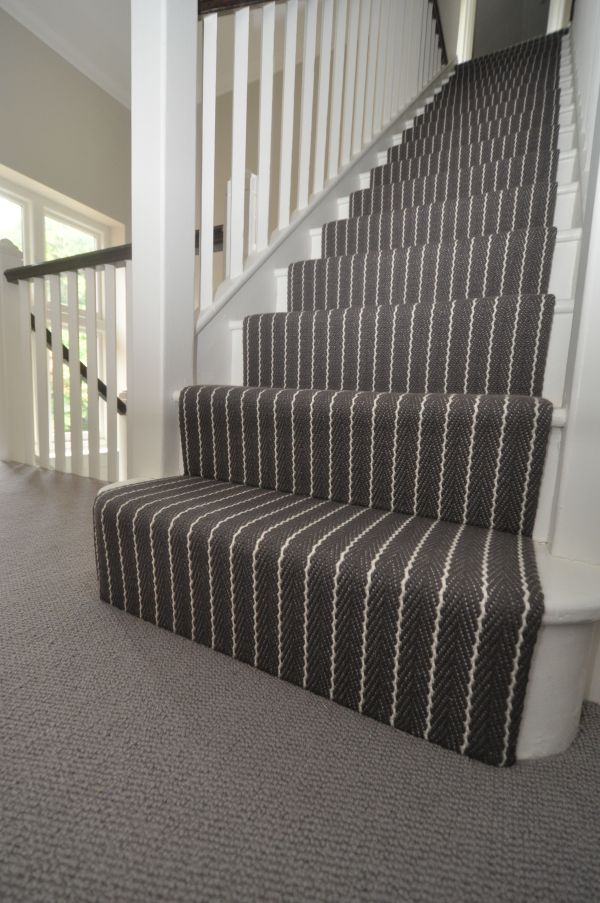 Striped Carpet On Stairs