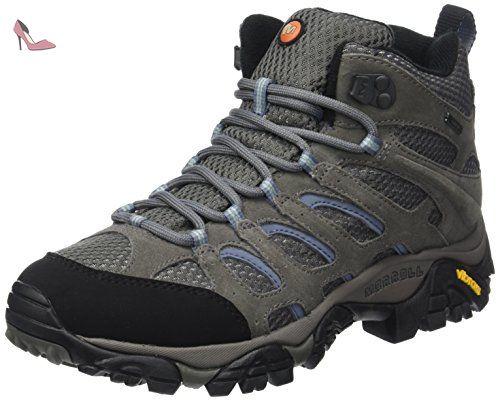 merrell moab mid chaussures de randonnee hautes femme gris grey periwinkle