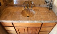 bathroom backsplash travertine - Google Search | New House ...