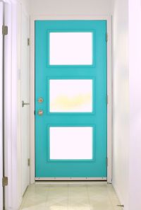 A mid-century modern inspired front door with special ...