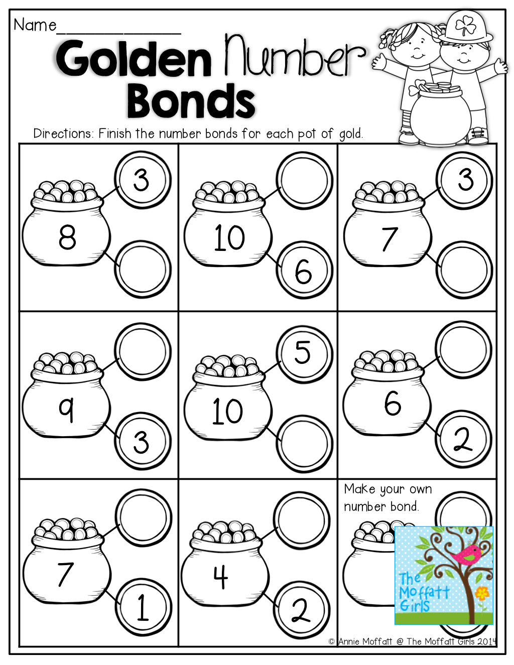 Number Bonds Fill In The Missing Part On The Coins Tons Of Fun And Effective Printables
