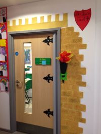 Castle classroom door | Decorating Classroom Door ...