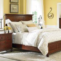Traditional Cherry Wood Queen Panel Bed   Master Bedroom ...