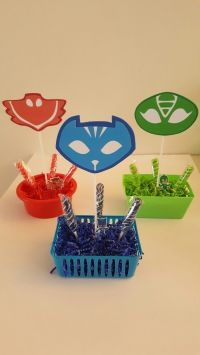 Pj mask table center favors | ideas | Pinterest | Pj mask ...