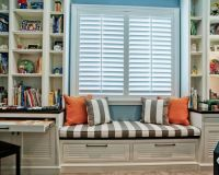 full wall shelving with window seat | ... Windows Seat ...