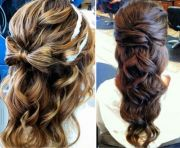 partial updo hairstyles color