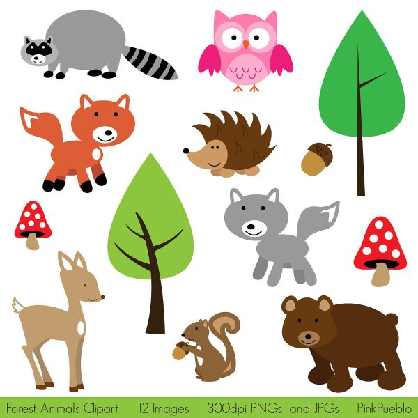 forest animals clip art clipart