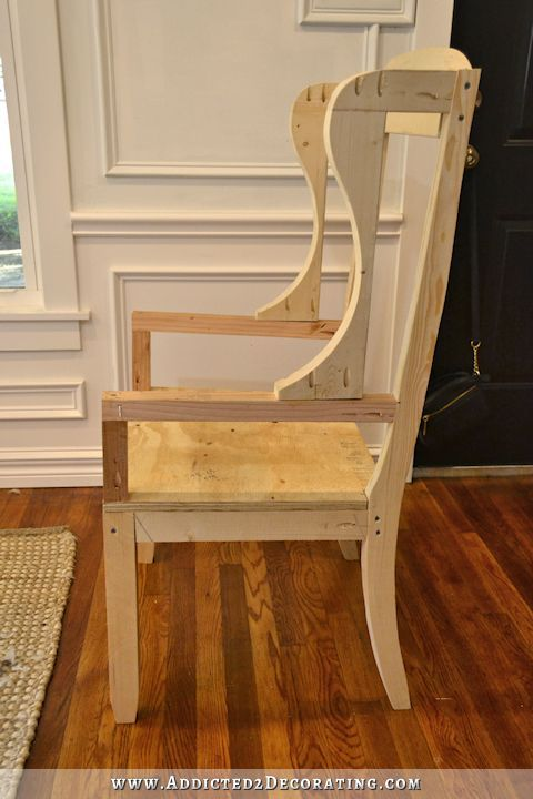 tantra chair plans ipad stand diy wingback dining – how to build the frame   upholstered chairs, a and ...