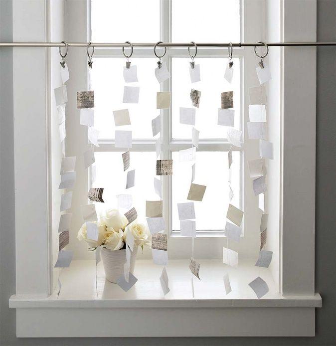 Vorhang aus Papier  Inspiration  Pinterest  Vorhnge Papier und Gardinen
