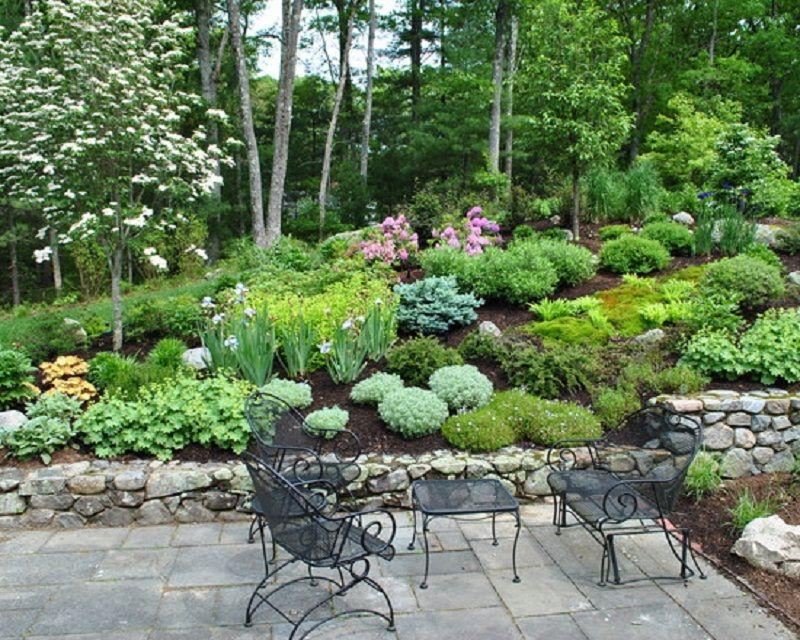 Great Hillside Terraced Garden Patio Design Style Best Patio