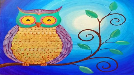 Easy Owl Acrylic Painting Beginner Tutorial Live Full Length Online Class Free Art Lesson