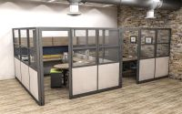 Modular Office Furniture as Private Offices. These tall ...