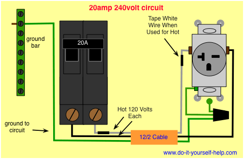 Wiring Diagram For A 20 Amp 240 Volt Circuit Breaker Man Cave
