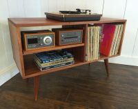 New mid century modern record player console, turntable ...