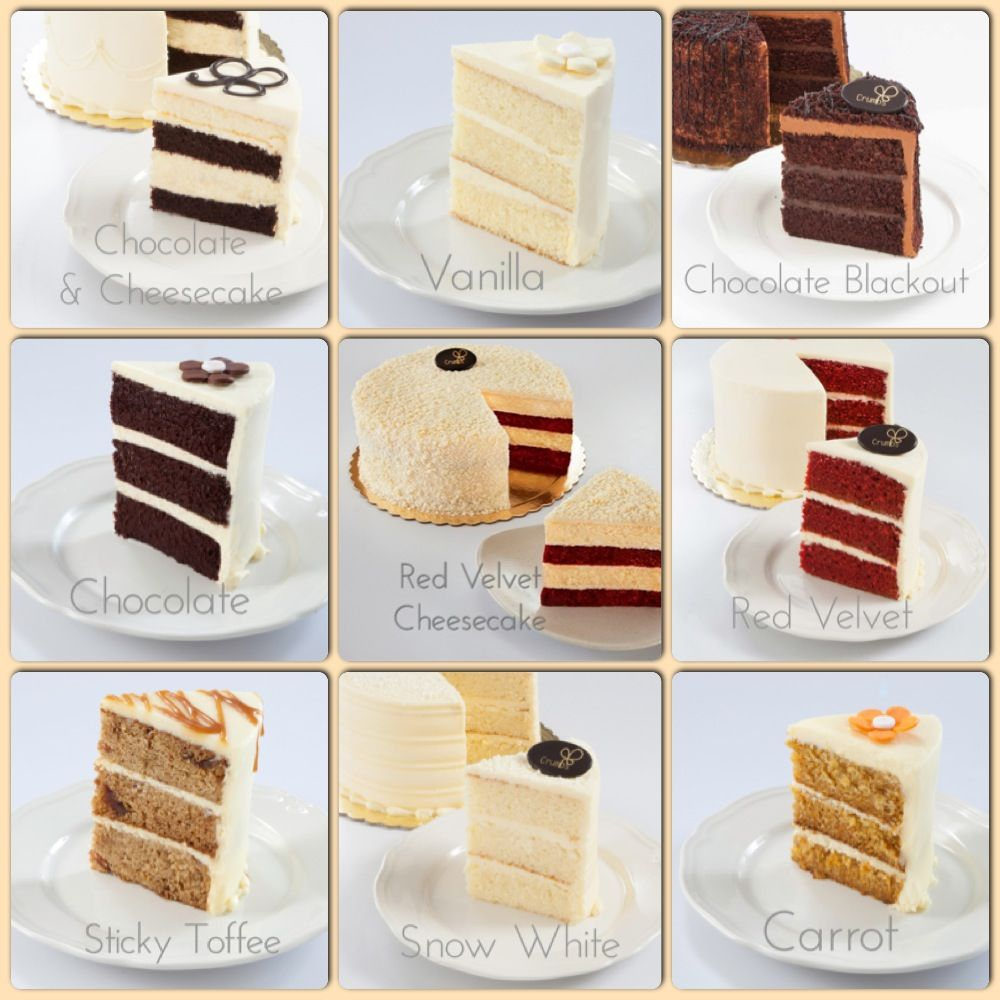 Types Cakes And Fillings