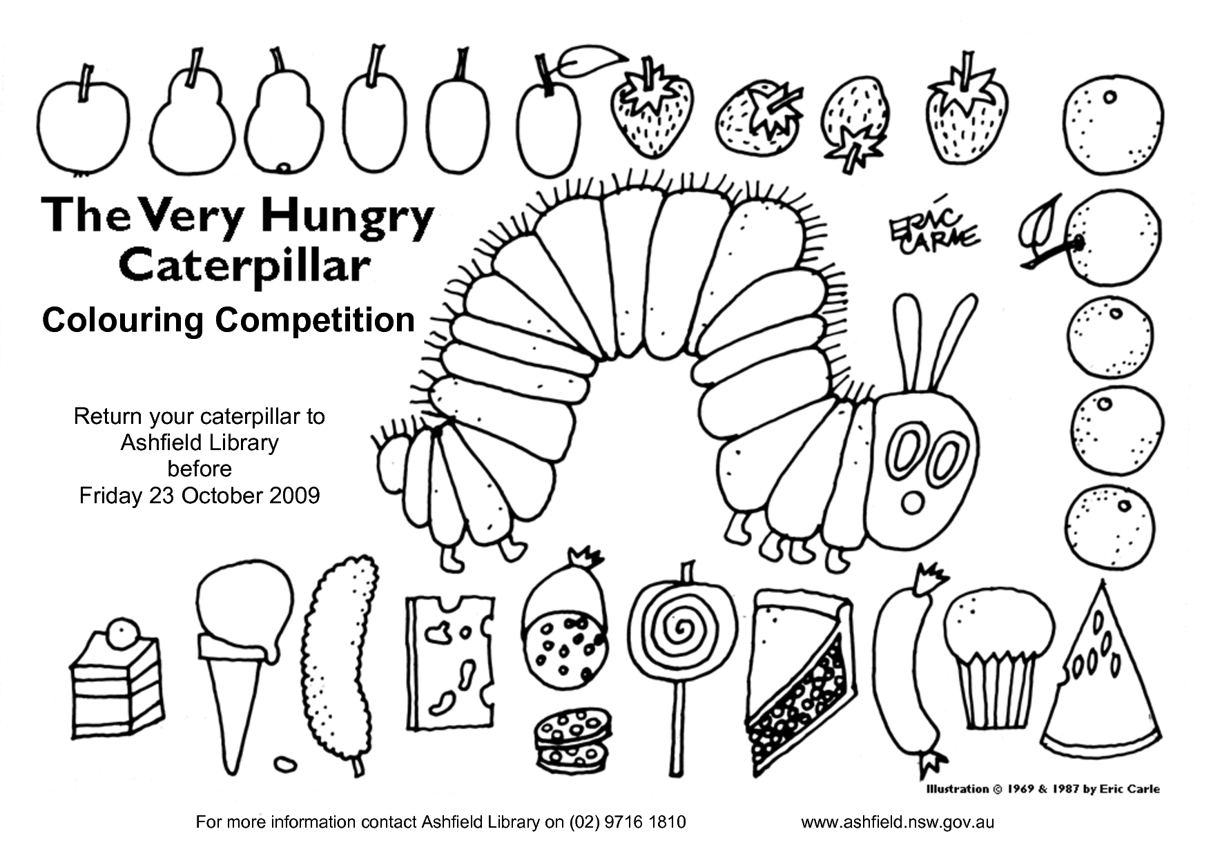Very Hungry Caterpillar 40 Ann Colouring Competition By Alendar