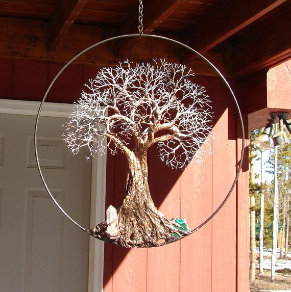 Tree Of Life Sculpture Wall Decor Ancient Tree Quartz Crystal