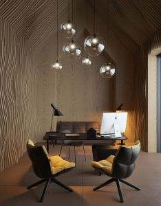 Offices log homes design bedroom great home office idea concept  cattic   by vasiliy butenko black and white workspace also attic  architecture spaces pinterest rh