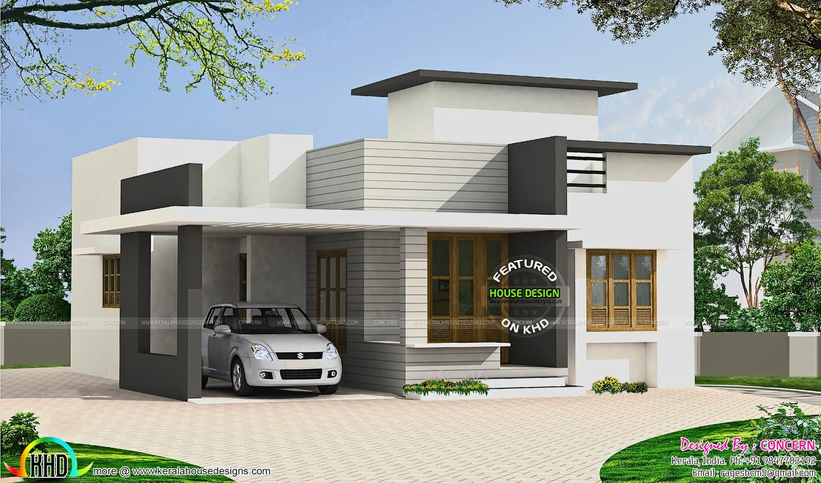 Image Result For Parking Roof Design In Single Floor Kerala House Also Best  Plans Images On