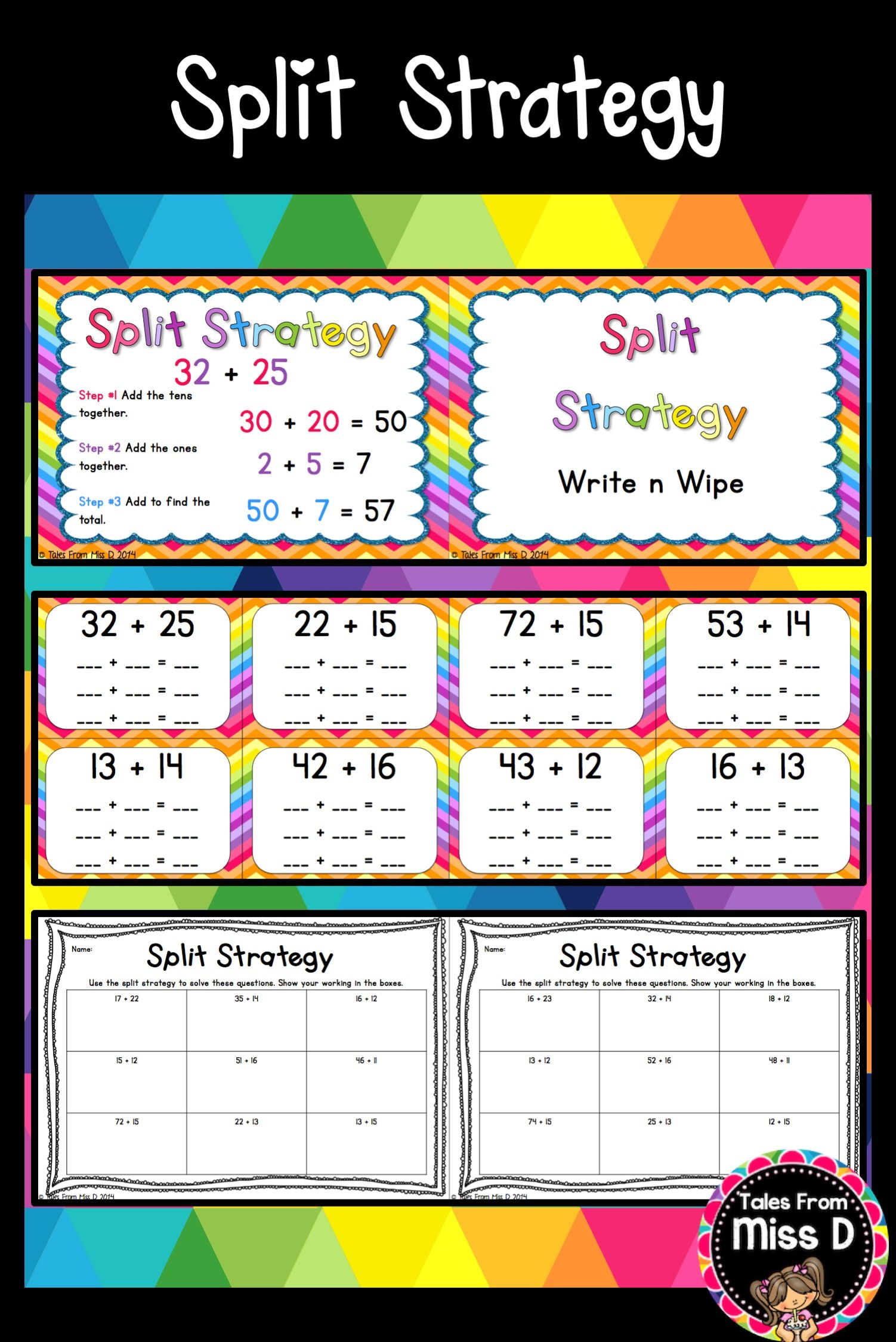 Jump Strategy Worksheet Year 4