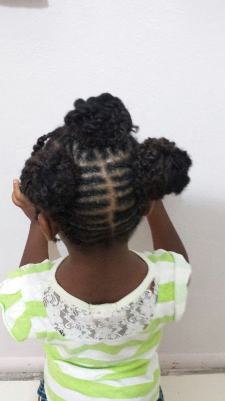 Kid hairstyle Kinky curly Done by JasmineTurnquest