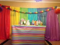 Full view of table...sweet sixteen party: dollar store ...