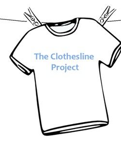 Spirit Clothesline! I think this is a cool idea! For each