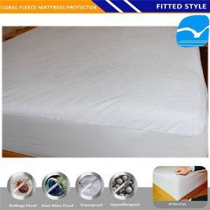 China Manufacturer Good Quality Anti Allergenic Safety Shield Vinyl Free White Hotel Collection Mattress Protector