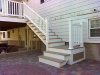 deck stairs to patio | Home DIY | Pinterest | Deck stairs ...