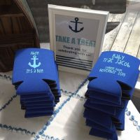 Nautical Baby Shower Koozies, Baby Shower Favors, Ahoy it ...