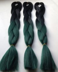 New teal green Hair ombre color box braids | ombre hair ...