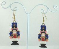 Traditional Nutcracker Beaded Earrings - Christmas Jewelry ...